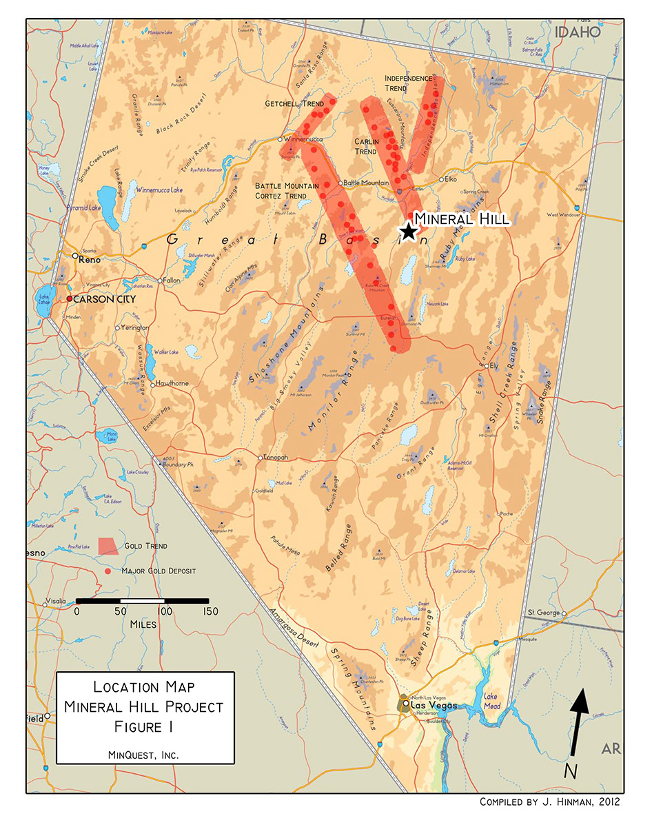 Mineral Hill Project Location Map (Figure 1)